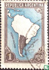 Kaart van Zuid-Amerika (zonder landsgrenzen)