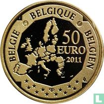 """Belgium 50 euro 2011 (PROOF) """"100 years Amundsen's expedition & discovery of South Pole"""""""