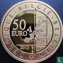 """Belgium 50 euro 2013 (PROOF) """"Hugo Claus"""""""