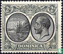 Wapenschild van de kroonkolonie en Koning George V