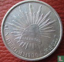 Mexico 1 peso 1900 (Mo AM)