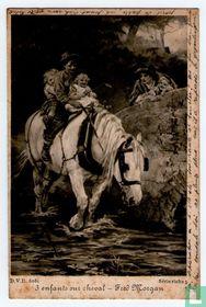 3 enfants sur cheval