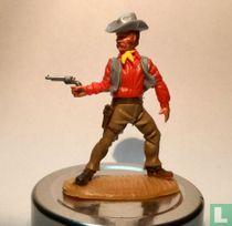 Cowboy grijs/rood
