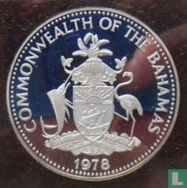 """Bahama's 10 dollars 1978 (PROOF) """"5th Anniversary of Independence - Sir Milo Butler"""""""