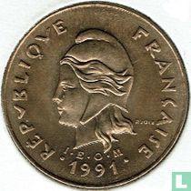 Frans-Polynesië 100 francs 1991