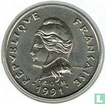 Frans-Polynesië 10 francs 1991