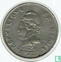 Frans-Polynesië 20 francs 1972