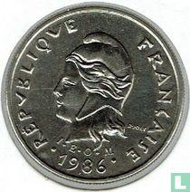 Frans-Polynesië 10 francs 1986