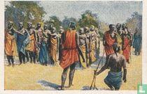 Vreugdedans der inboorlingen