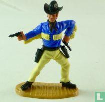 Cowboy blauw/geel
