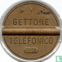 Gettone Telefonico 7109 (geen muntteken)
