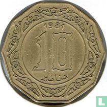 Algerije 10 dinars 1981