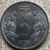 India 2 rupees 2013 (Hyderabad)
