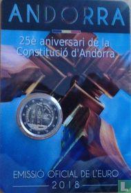 "Andorra 2 euro 2018 (coincard - Govern d'Andorra) ""25th anniversary Constitution of Principality of Andorra"""