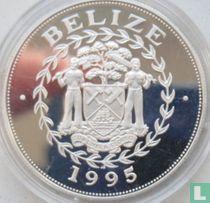 "Belize 10 dollars 1995 (PROOF) ""Sailing ship Carrack"""