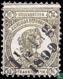 Frankofurtia, met opdruk 1,5 Pfg. 1899