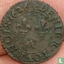 France denier tournois 1626 (A)