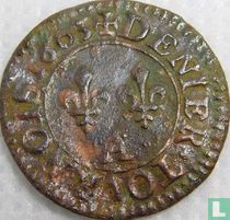 France denier tournois 1603
