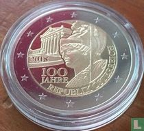 "Austria 2 euro 2018 (PROOF) ""100 years of the Austrian Republic"""