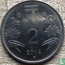 India 2 rupees 2014 (Hyderabad)