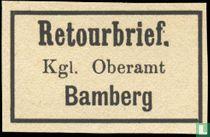 Return Stamps Bamberg - Kgl Oberamt