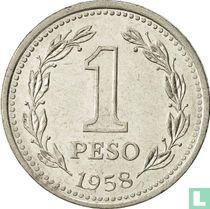 Argentinië 1 peso 1958