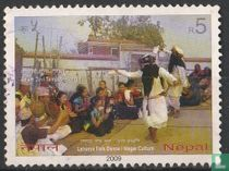 Traditioneel volksdansfeest