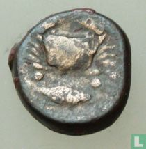Akragas, Sicile  AE21 Hexas  (2/12 Litra, 8g)  500-400 BCE