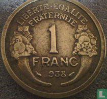 Frankrijk 1 franc 1938 (misslag)