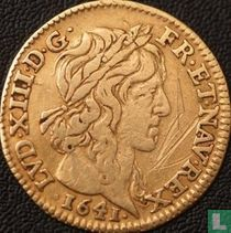 France ½ louis d'or 1641 (with star after legend)