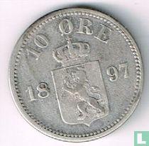 Norwegen 10 Øre 1897