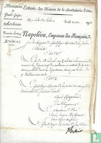 Document Ministere du Grand-Judge 1813