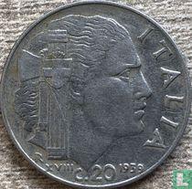 Italien 20 centesimi 1939 (nicht magnetisch - gerippt - XVIII)