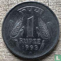 India 1 rupee 1993 (Hyderabad)