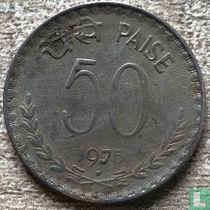 India 50 paise 1975 (Hyderabad)