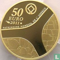 """France 50 euro 2011 (PROOF) """"Castle of Versailles"""""""