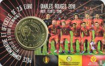 "Belgium 2½ euro 2018 (coincard - FRA) ""Belgian Red Devils 2018"""