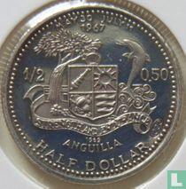 "Anguilla ½ Dollar 1969 (PP) ""St. Mary's church"""