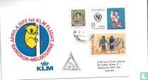 Eerste KLM vlucht Bangkok - Melbourne