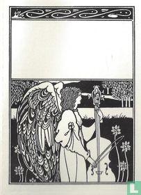 Ex libris Contrabas spelende engel