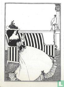 Ex libris Vrouw lezend op sofa