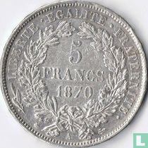 France 5 francs 1870 (Ceres - A - with legend)