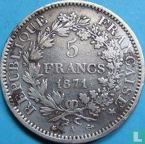 France 5 francs 1871 (A - bee)