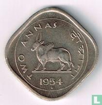 India 2 annas 1954