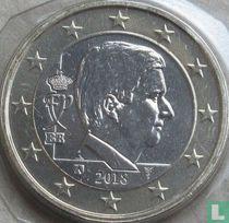Belgium 1 euro 2018