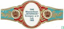 """1940 Mannekoor """"INTERNOS"""" Krimpen a/d Lek 1965"""