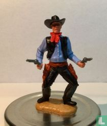 Cowboy met revolvers  blauw/zwart