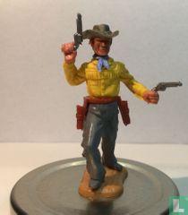Cowboy met revolvers  geel