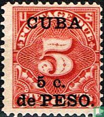 USA Port Briefmarken mit Aufdruck