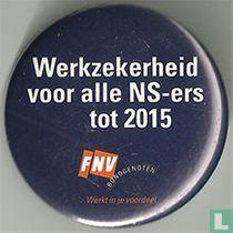 Werkzekerheid voor alle NS-ers tot 2015